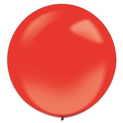 Ballonnen apple red crystal (60cm) 4st