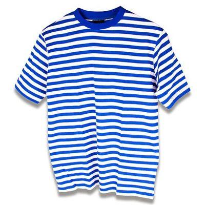 Gestreept t-shirt blauw/wit dames
