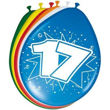 Leeftijd ballonnen 17 jaar 8 stuks