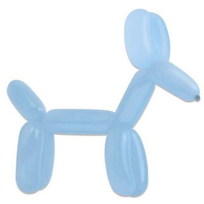 Modelleerballonnen pastel blue (115cm)