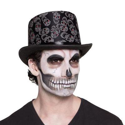 Hoge hoed met schedels