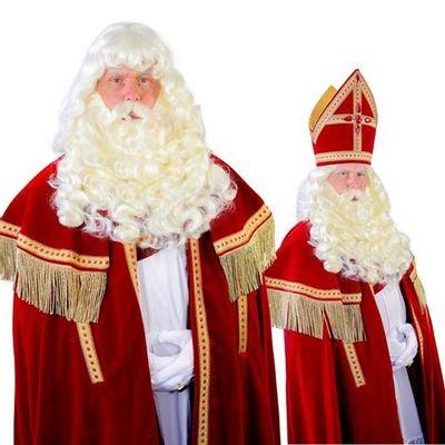 Foto van Sinterklaas baard Myra kanekalon