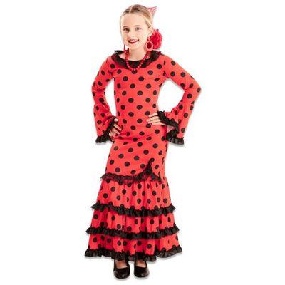 Flamenco jurk kind rood