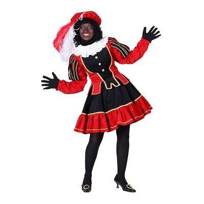 Dames pietenjurk zwart/rood