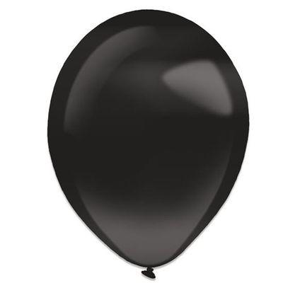 Ballonnen jet black pearl (13cm) 100st