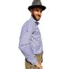 Afbeelding van Oktoberfest overhemd - blauw geblokt