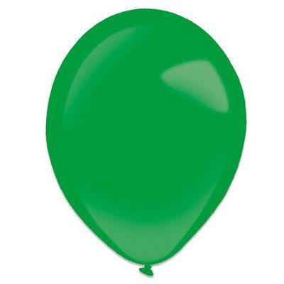 Ballonnen festive green metallic (13cm) 100st