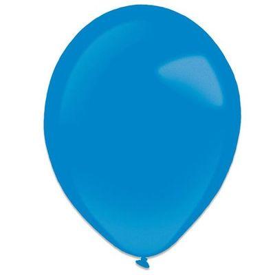 Ballonnen royal blue metallic (28cm) 50st
