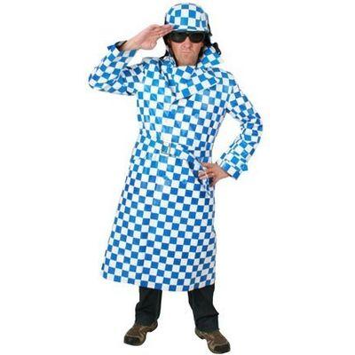 Motorcoat blauw/wit heren