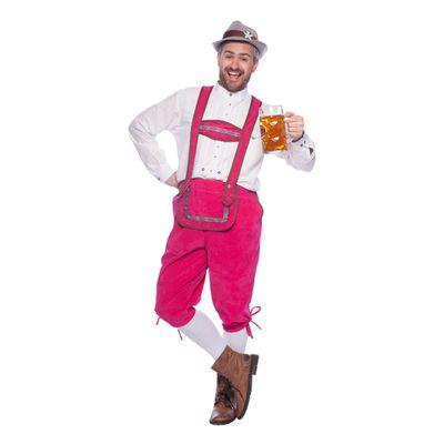 Roze lederhosen - heren