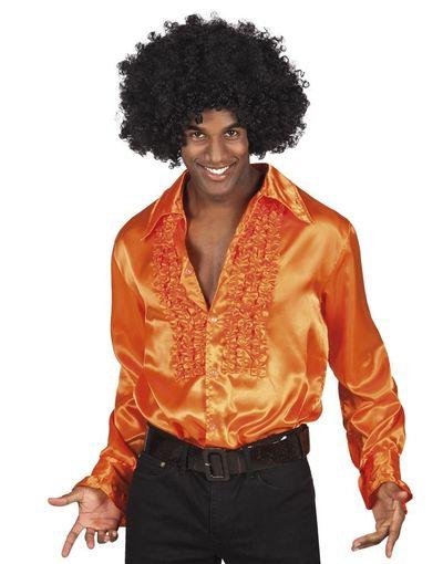 Oranje disco blouse
