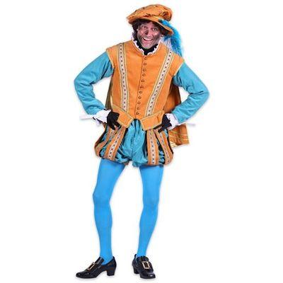 Foto van Pietenkostuum met cape - Geel/Turquoise