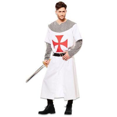 Foto van Middeleeuwse ridder kostuum - wit