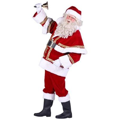 Kerstman kostuum polyester luxe