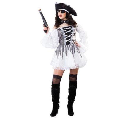 Piraten jurkje wit