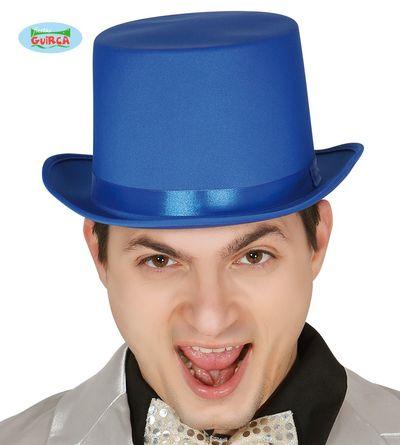 Hoge hoed blauw