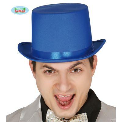 Foto van Hoge hoed blauw
