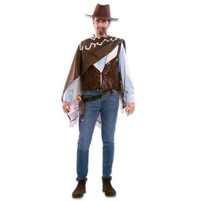 Cowboy gilet met poncho