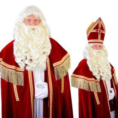 Foto van Sinterklaas baard Myra kanekalon draad snor 34.113