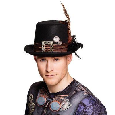 Hoge hoed plumepunk