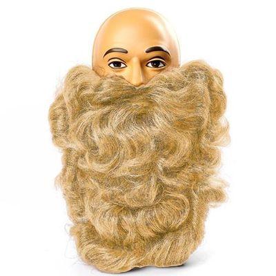 Lange baard licht blond