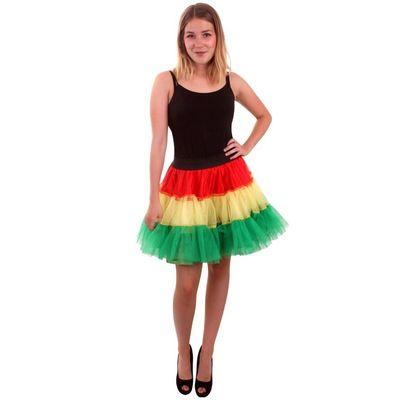 Foto van Petticoat rood/geel/groen 3-laags dames one size