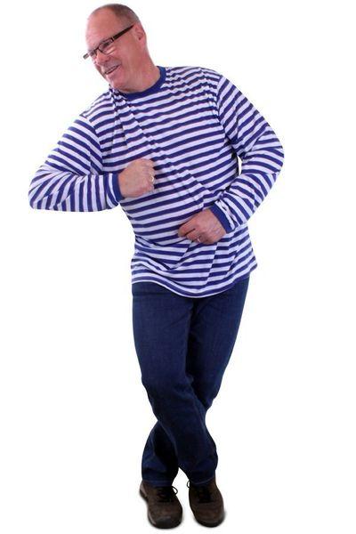 Blauw wit gestreepte trui