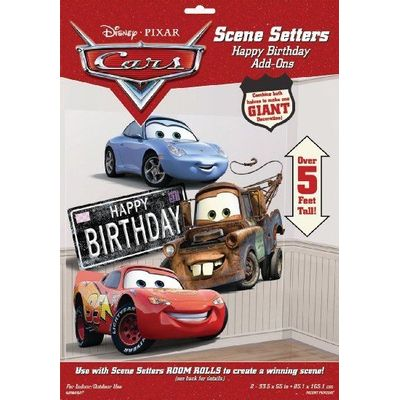 Wanddecoratie Cars Happy birthday