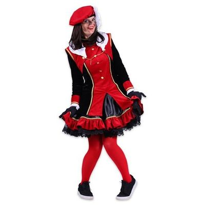 Foto van Dames pietenjurk Graciosa zwart/rood
