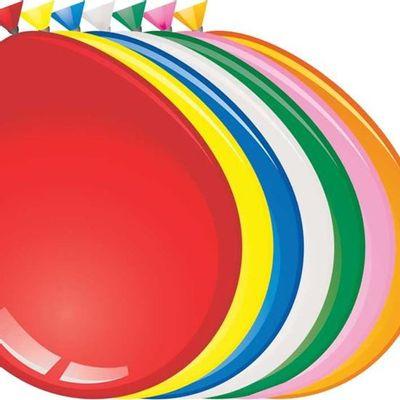 Mega ballon assorti (74cm) 25st