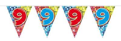 Mini Vlaggenlijn Bday Blocks 9 jaar