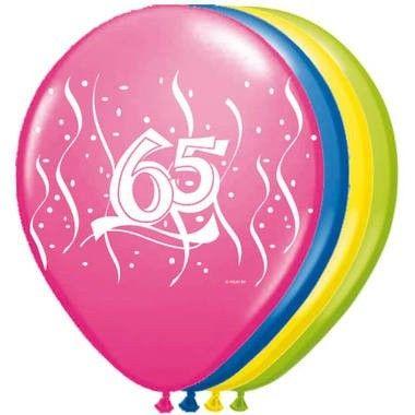 Foto van Ballonnen 65 jaar 8 stuks