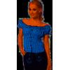 Afbeelding van Oktoberfest blouse dames blauw