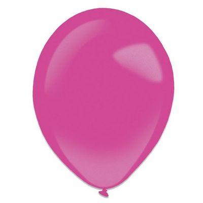 Ballonnen hot pink metallic (13cm) 100st