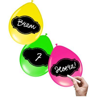 Foto van Beschrijfbare ballonnen neon