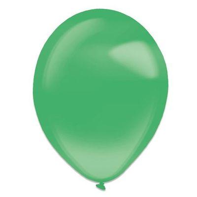 Ballonnen festive green crystal (13cm) 100st