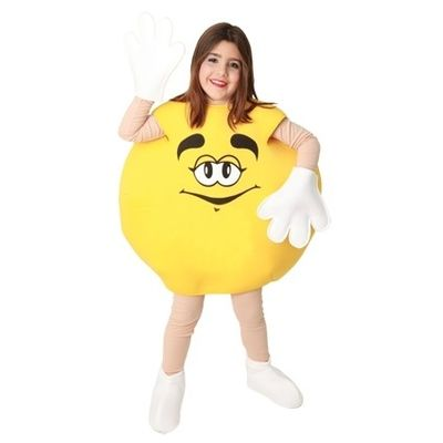 M&M kostuum geel kind