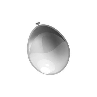 Ballonnen metallic zilver (30cm) 10st