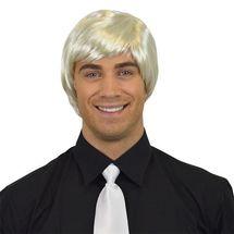 Herenpruik steil platina blond