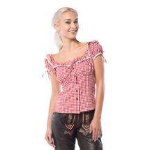 Oktoberfest blouse dames rood