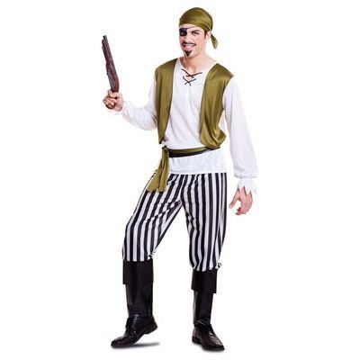 Foto van Piraten kostuum groen - Heren