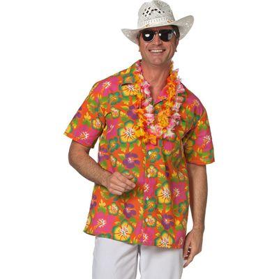 Hawaii blouse oranje