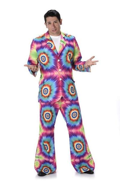 Hippie tie-dye kostuum
