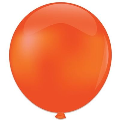 Topballon kristal oranje (91cm) 6st