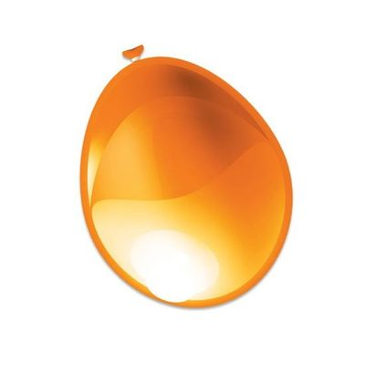 Foto van Ballonnen metallic oranje (30cm) 50st