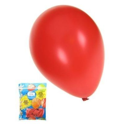 Kwaliteitsballon metallic rood per 50 (Ø 14 inch / 36 cm)