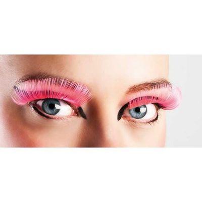 Foto van Neon wimpers roze XL