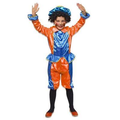 Pietenpak kind oranje/blauw