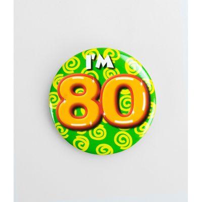 Foto van Button 80 jaar oud