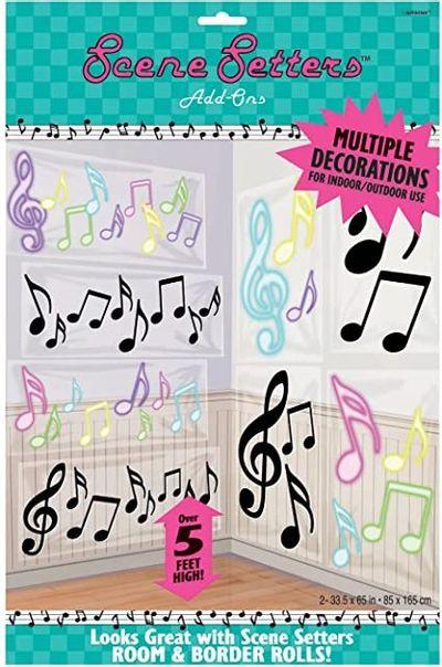 Muzieknoten wanddecoratie